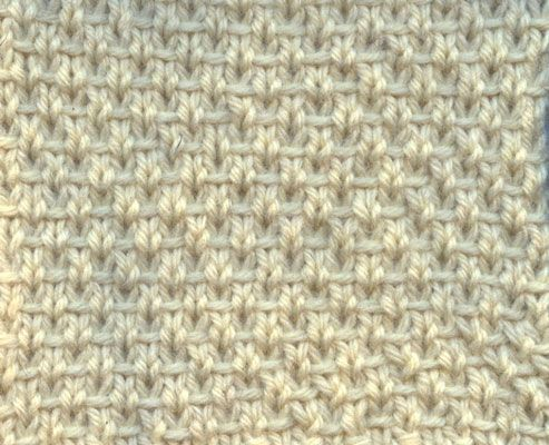How to Knit the Half Linen Stitch - directions for both flat and in the round.