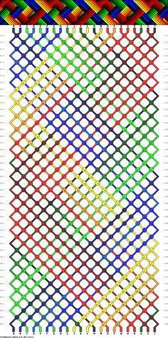 22 strings, 20 colors, 44 rows