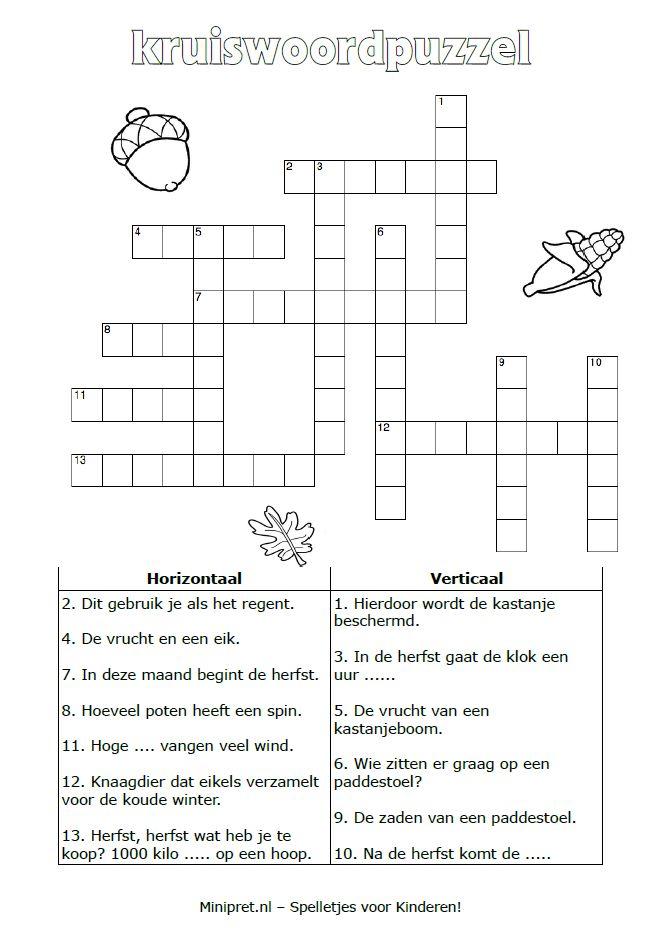 Kruiswoordpuzzel [minipret.nl]