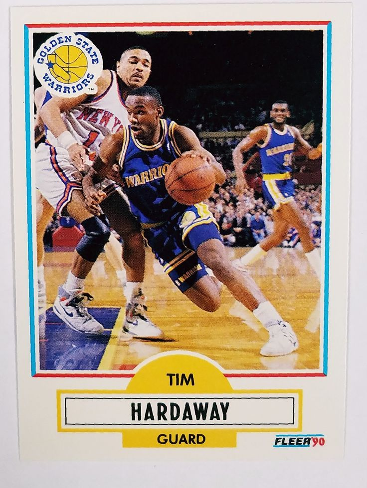 1990 Fleer #63 TIM HARDAWAY ROOKIE CARD Warriors - PACK FRESH From a Pack Opened Today!