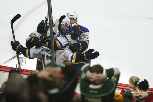 ST. PAUL, Minn. (AP)(STL.News) — With Jake Allen as steady as ever in the net and those big defensemen crowding the ice in front of him, the St. Louis Blues again stymied Minnesota's attack.    All those misfires in the zone for the Wild added up t...