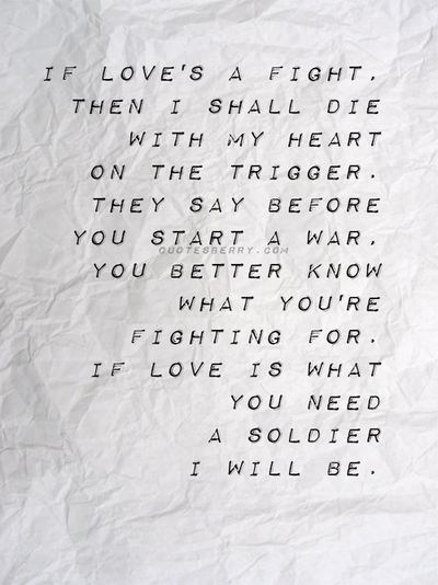 Beautiful verse from the song Angel with a Shotgun by The Cab