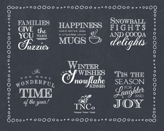 Christmas word art download. christmas chalkboard clipart, supplies and clipart for commercial use,