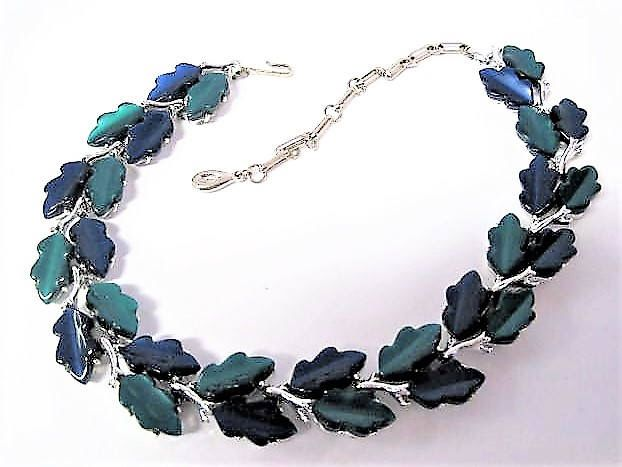 Excited to share the latest addition to my #etsy shop: Lisner Lucite Necklace, Blue Green Thermoset, Blue Lucite, Mid Century Choker