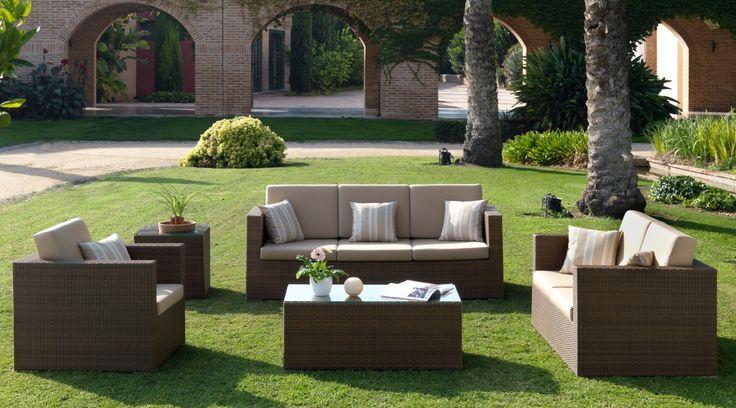Mesas de sal n exterior menorca mesas de jard n for Muebles para terraza y jardin