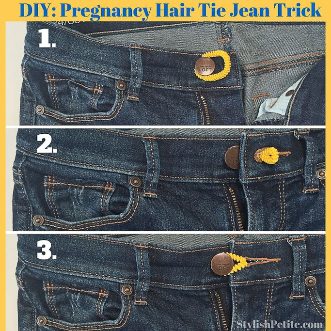 StylishPetite.com   Gingham Peplum and Leopard (Plus DIY Pregnancy Hair Tie Trick)