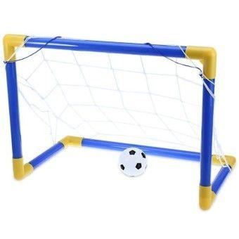 # | ตรวจราคา ## Mini Football Soccer Ball Goal Post Net Set with Pump IndoorOutdoor Exercise Fitness Baby Kids Child Children Sport Toy - intl ซพพลาย จำกด