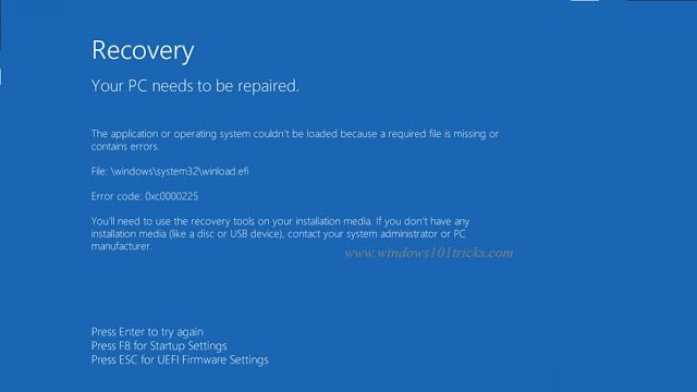 Solved Error 0xc0000225 Your Pc Device Needs To Be Repaired