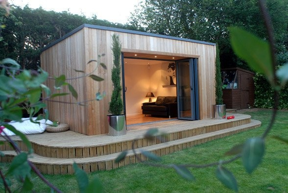 wooden outdoors room