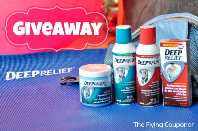 Do you have back pain or knee pain? Make sure to enter our giveaway to help with pain management and pain relief. Giveaway 2014 | Blog Giveaway  Deep Relief #Giveaway CAN | The Flying Couponer
