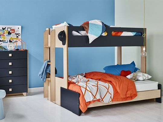 Charlie Combo Bunk Frame : Combo Bunk Bed