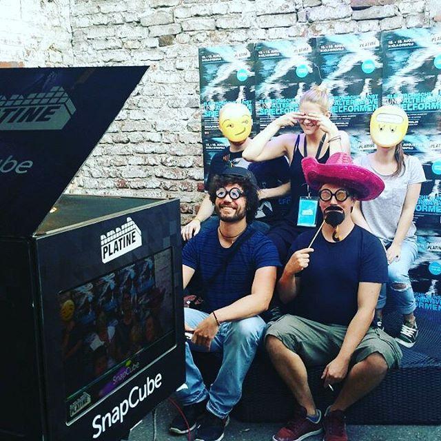 Zu Gast auf dem @platine_festival 2016. Es gibt viel zu entdecken: elektronische Kunst und alternative Spielformen... Kommt vorbei und erkundet auch den SnapCube. #platine16 #snapcube #photobooth #technics