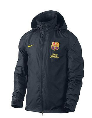 NIKE FC BARCELONA BASIC RAIN JACKET 2011/12 LA LIGA SPAIN FOOTBALL.