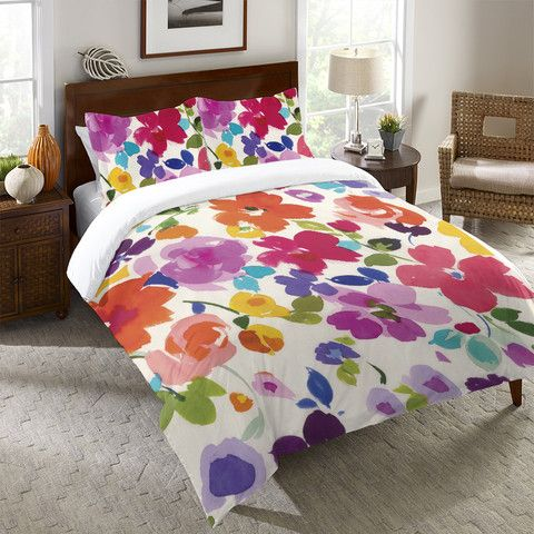 Bright Florals Duvet Cover and Shams – Laural Home
