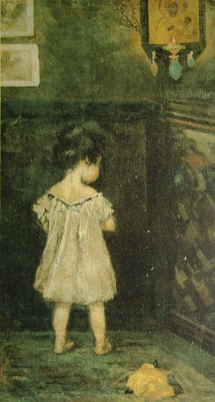 http://cultobzor.ru/wp-content/uploads/2013/07/bakst1-12.jpg Бакст Лев «Ребенок перед иконой. Этюд» 1893 г. Холст, масло 32х18 Государственный Русский музей.