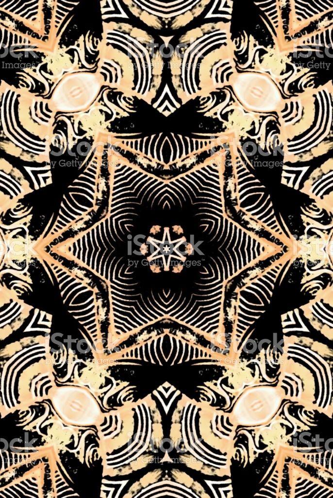 Polynesian Styled Mandala royalty-free stock photo