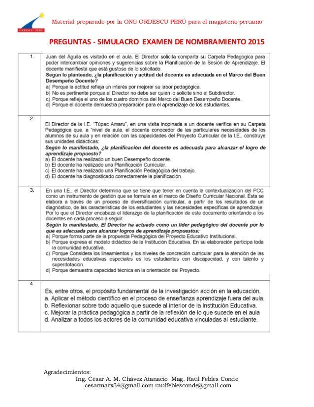 Material preparado por la ONG ORDESCU PERÚ para el magisterio peruano Agradecimientos: Ing. César A. M. Chávez Atanacio Ma...
