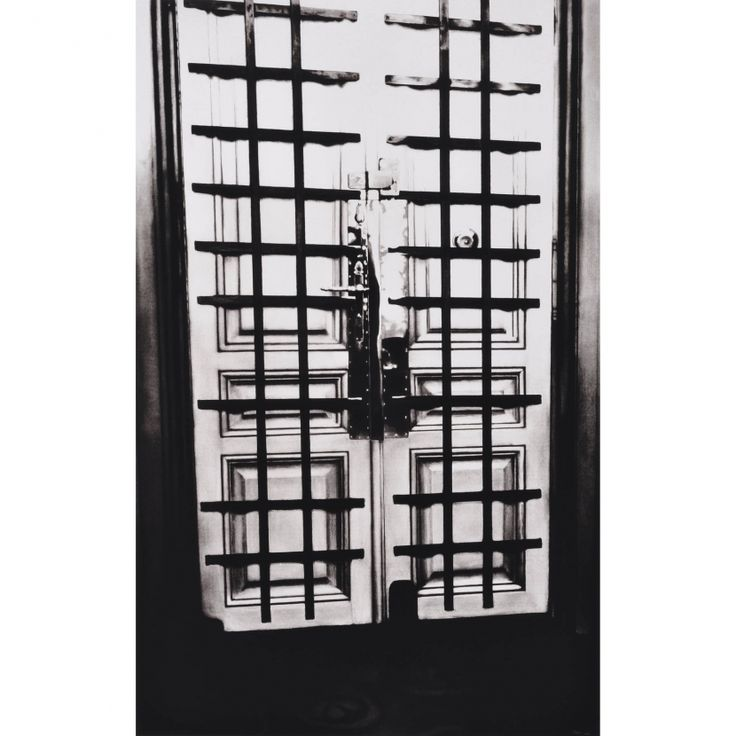 Interior Apartment Front Door with Bars (Freud Cycle, 1938) - Robert Longo - Weng Contemporary   https://www.wengcontemporary.com/shop/product/interior-apartment-front-door-with-bars-freud-cycle-1938 #robertlongo #interior #apartment #door #wengcontemporary #buyonline #print #pigmentprint