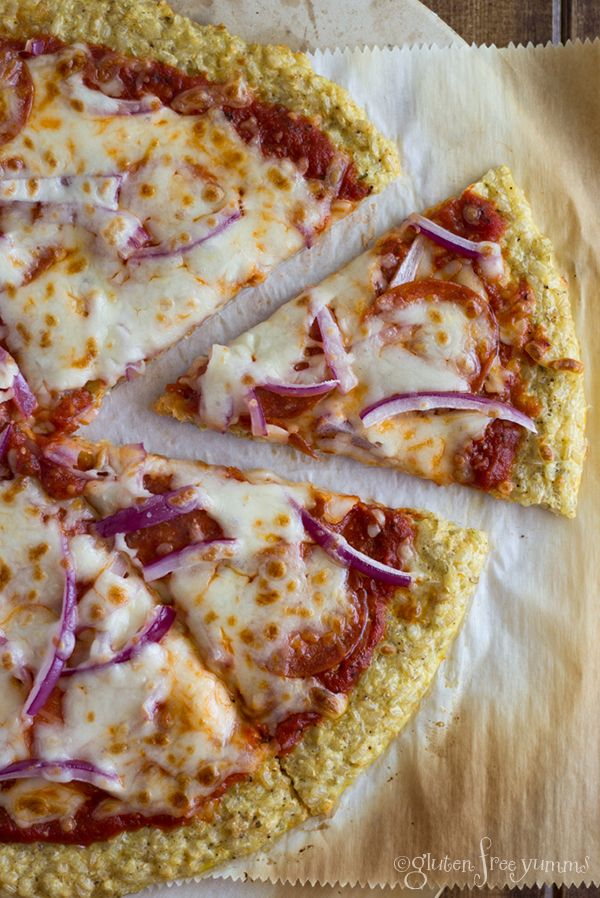 Brown Rice Pizza Crust Recipe. This easy gluten-free pizza crust is made with cooked brown rice, eggs and spices. Healthy alternative to dough pizza crust.