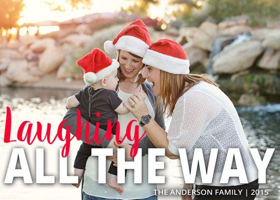 Christmas Card, Photo Christmas Card, Photo Holiday Card, Double Sided, DIY Printable Christmas Card