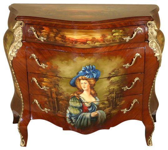 Rococo pictat Franta sursa foto: houzz.com