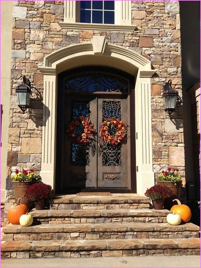 102 best modern fall decorations sets ideas images on for Modern front door decor