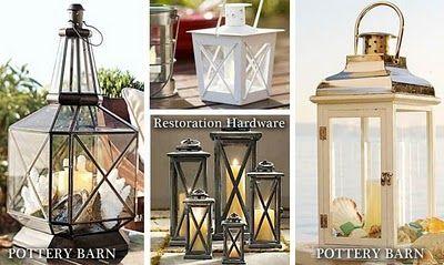 DIY Pottery Barn Inspired Lantern from $5 ReStore Light Fixture