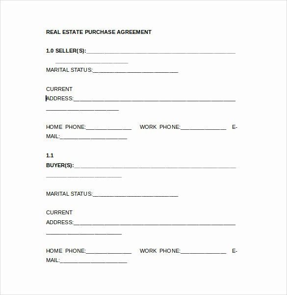 Free Real Estate Contract Template Beautiful 8 Real Estate Purchase Agreement Samples Templates Real Estate Contract Contract Template Statement Template