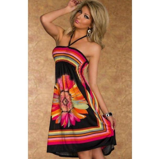 Dámské lehké volné šaty s květinou černé – Velikost L Na tento produkt se vztahuje nejen zajímavá sleva, ale také poštovné zdarma! Využij této výhodné nabídky a ušetři na poštovném, stejně jako to udělalo již …