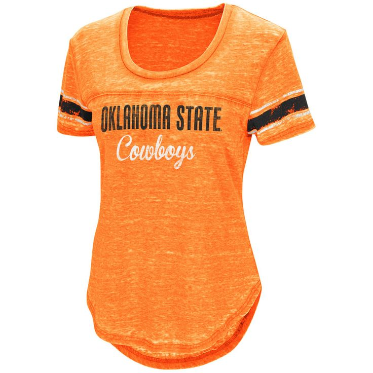 Women's Campus Heritage Oklahoma State Cowboys Double Stag Tee, Size: Medium, Drk Orange