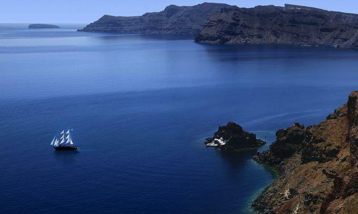 Calm sea. www.secretearth.com/destinations/50-santorini