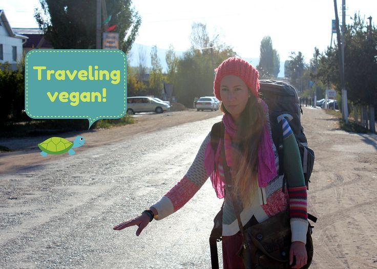 Traveling vegan that also hitchhikes on boats. Cool girl!