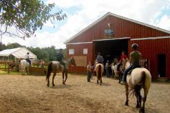 L'équitation est accessible aux personnes âgées de 10 ans ou plus. Avec ou sans expérience, nos guides équestres adapteront le tempo pour rendre la randonnée agréable.  On emprunte des sentiers boisés au cœur de la forêt, en longeant les rivières e...