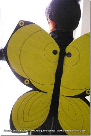 #Costumi di Carnevale fai-da-te: ali da farfalla in cartone riciclato