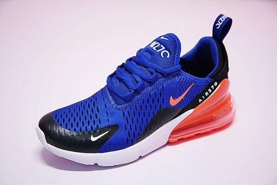 Authentic Nike Air Max 270 Flyknit Deep Blue Orange Ah8050 460 New Sneaker cb87dbfaeb