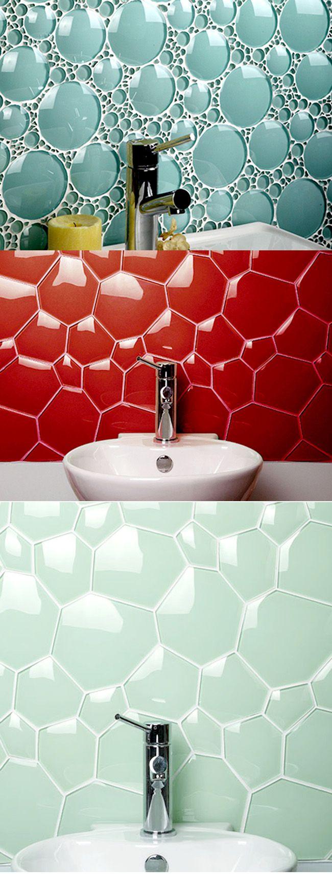#Design - Glass tiles. #onlineartgallery - #contemporaryart - online art gallery - contemporary art Source : http://www.ideastosteal.com/2011/01/kreative-lekre-fliser/