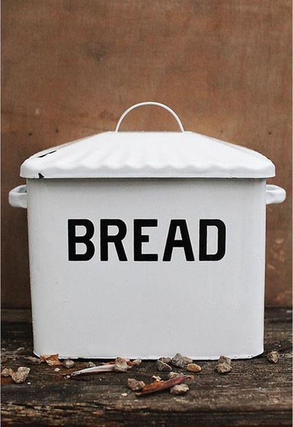 Contemporary Enameled Metal Bread Box contemporary-bread-boxes