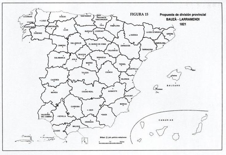 Organización territorial en la España del XIX: el Trienio Liberal   Geografía Infinita
