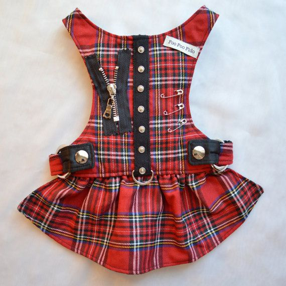 Dog Harness Hot for Teacher Harness Dress in Red por FooFooFido