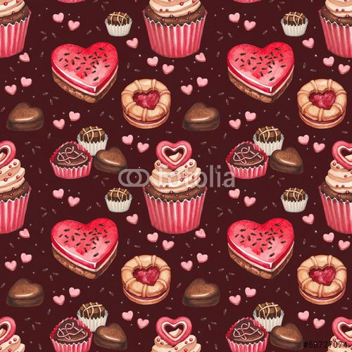 80 Cookies, cakes and chocolate sweets for valentines day