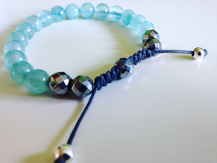Chios jewelry, bracelet stone jadeite.