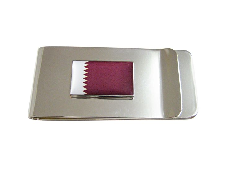 Qatar Flag Pendant Money Clip
