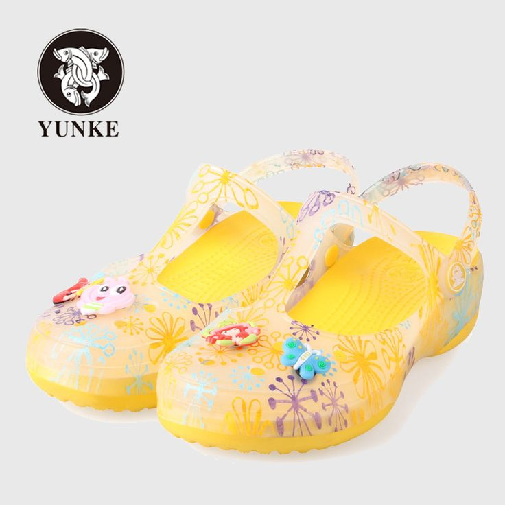 >> Click to Buy << YUNKE Summer Women's Jelly Shoes Candy Color Garden Clogs Flower Leopard Print Mary Janes Sandals For Woman Girl Sweet Slippers  #Affiliate