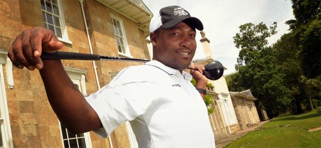 Brain Lara playing the role of chief selector for Golf Team