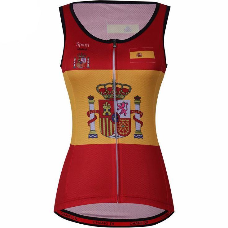 Women's Sleeveless Spain Cycling Jersey – Online Cycling Gear