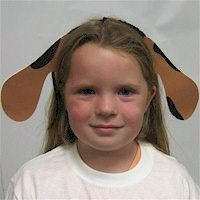 These cute little Puppy Dog Ears from the Free Kids Craft Team will turn anyone into a faithful friend.
