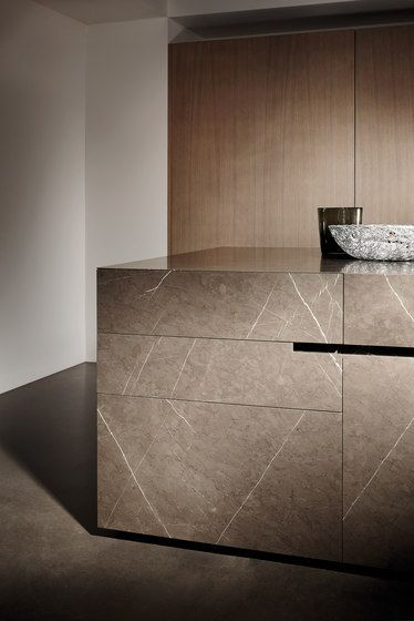 #interior design #architecture #kitchen #modern #contemporary - Bespoke | Kitchen systems | Limestone | eggersmann. Check it out on Architonic