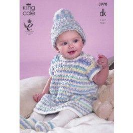 Baby Set In King Cole Comfort DK Prints (3970) £2.99