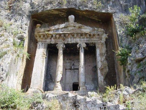 Rock tombs at Myra, Lycia, Turkey