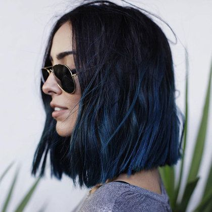 20 Awesome Blue Black Hair Looks To Raise Charm